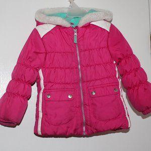London Fog Girl Sz 4T Puffer Jacket Hooded Zip up